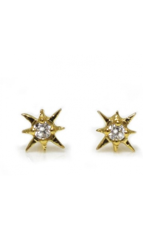 LA Kaiser Diamond Earrings STAR STUDS product image
