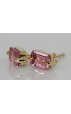 Elizabeth Street Colored Stone Earrings ESE24-DARK PINK product image