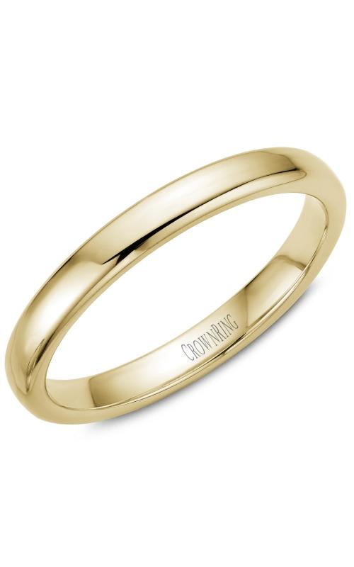 Crown Ring/Noam Carver Precious Metal (No Stones) Wedding Bands  -  Men's TDS14Y35 product image